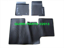 2010-2014 Ford F150 Crew Cab All Weather Rubber Floor Mats w/ Subwoofer OEM NEW