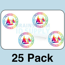Mark of Business Trust ID Card Hologram Overlays (w/UV) for Teslin/PVC - 25 pack