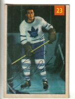 1954-55 Parkhurst Hockey Premium Card #23 Ron Stewart Toronto Maple Leafs VG/EX.