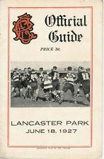 Old Boys, Merivale, linwood, Varsity 18 Jun 1927 Canterbury Nueva Zelanda Rugby programa