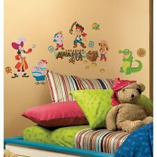 JAKE AND THE NEVERLAND PIRATES wall stickers 32 decals Captain Hook treasure +