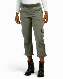 XCVI Reagan 21970T Crop Pants High Rise Waist Stretch Cargo Pockets New