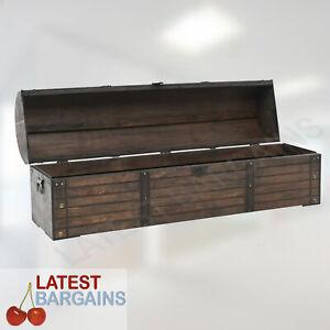 Wooden Storage Chest Trunk Decorative Furniture Clothes Blanket Box Decor