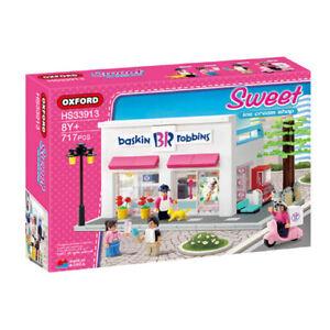 Oxford HS33913 Baskin Robbins Block Brick Toy BR Sweet Ice Cream Shop , 717 Pcs