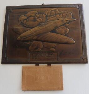 BRONZED METAL CALENDAR SIGNED ALEX HENSHAW MBE 1941  FREE SHIPPING ENGLAND
