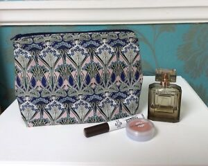 "Handmade Liberty Fabric ""Blue Ianthe"" Make up Bag"