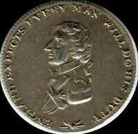 Horatio Nelson Aboukir medal  silver 19mm