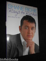 SIGNED; Rags to Richie by Shane Richie - 2003-1st Eastenders Actor Alfie Moon/TV