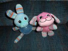 Set of 2 Plush Ball Dog Teething Squeaker Toys