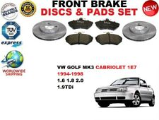 für VW Golf 3 III 1E7 Cabrio 93-99 Vorderbremse Scheibensatz + BREMSBELÄGE SATZ