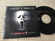 CREED - WHAT IF CD SINGLE CARD SLEEVE OST SCREAM 3 - ALTERNATIVE ROCK HARD