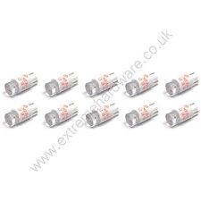 10 X 5v 10mm T10 base cuña roja Bombillas LED Para Pulsadores-Mame Arcade