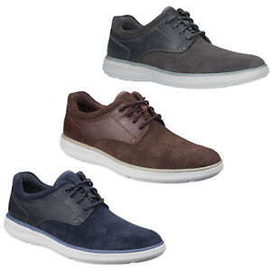 Rockport Zaden Shoes Pointed Toe Blucher Leather Smart Casual Lace Up Mens Shoes