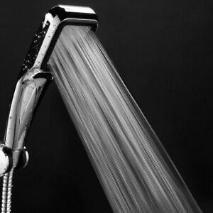 300-Holes High Pressure Shower Head Powerful Boosting Spray Bath Water Saving