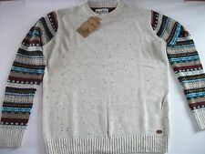 TOKYO TIGERS Mens Knitted Jumper With Patterned Sleeves Size L NEW WITH TAG