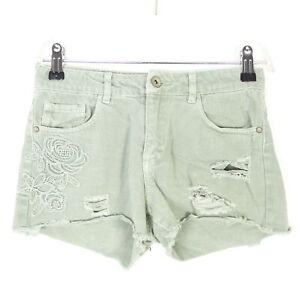 ZARA Bermuda Shorts Destroyed Mint Grün Gr. 140