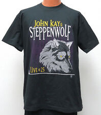 vtg JOHN KAY & STEPPENWOLF 1995 t-shirt XL Live at 25 Album 90s rock black