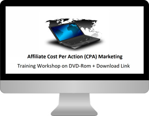 Learn Affiliate CPA Marketing Skills, MP4 Training Course on DVD-Rom + D/L