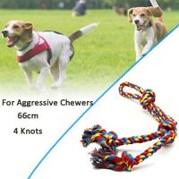 1Pc XL Dog Rope Toys Dog Chew Toy 4  Knots Rope Tug (26inch 4Knot Rope)'