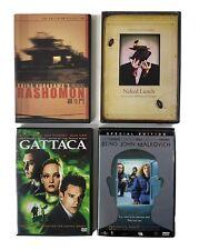 Lot of 4 Dvd Movies Rashomon Gattaca Naked Lunch Being John Malkovich
