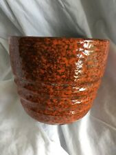 Orange Fall Hues Retro Pottery Flower Pot ~ Cool