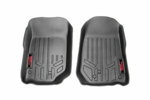 Rough Country Heavy Duty Floor Mats [Front] fits 97-06 Jeep Wrangler TJ