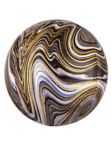 Black and White Marble Orbz Helium Party Balloon