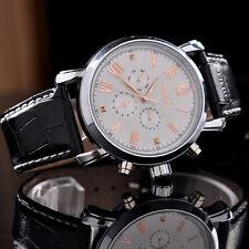 JARAGAR Classic Herrenuhr  Leder Armband  Uhr automatisch-mechanisch