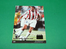 LAURENT CHARVET AS CANNES LA BOCCA FOOTBALL CARD PANINI 1996-1997 CARDS