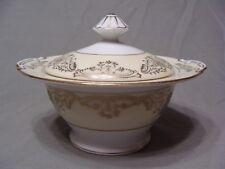 Ransom China Sugar Bowl W/ Lid, RNS13 Pattern, Gold Encrusted Flowers & Scrolls
