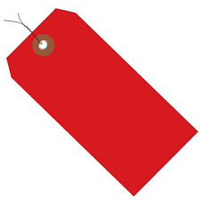 Plastic Shipping Tags 4 34 X 2 38 Prewired Red 100case