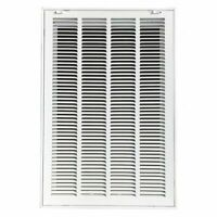 Zoro Select 4Mjt5 Filtered Return Air Grille, 16 X 25, White, Steel