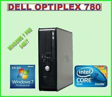 FAST PC DELL OPTIPLEX 780 INTEL DUAL CORE 2.93 GHZ 4GB RAM 250GB WINDOWS 7 PRO