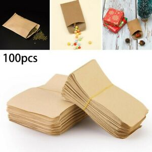 Coin Envelopes Packets Kraft Paper Brown Bags For Small Parts Stamps 100PCS