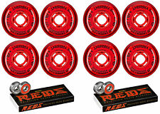 Revision Wheels Inline Roller Hockey Variant Soft 74A W/ Bones Bearings (8-Pack)