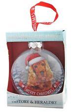 Golden Cocker Spaniel Glass Bauble Christmas Decoration Gift/Present Dog