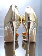 NEU 2017 HOHE LACK GOLD Damen Pumps Elegant Classic O30 Schuhe Sexy High Heels