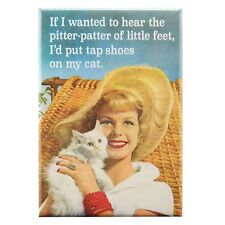 Pitter Patter Fridge Magnet Funny Decor Retro Novelty Gift Kitsch Gag Humour Cat