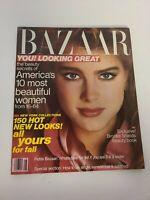 Vtg Fashion 1981 AUGUST HARPER'S BAZAAR MAGAZINE - BROOKE SHIELDS COVER