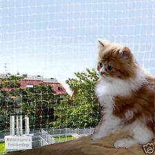 10 m breit/2m hoch) Katzennetz Katzenschutznetz Balkonnetz transparent 1qm 1,80€