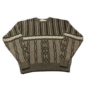 VTG 80s 90s Men's London Fog Acrylic Wool Blend Gray Sweater Sz XLT XL Tall USA