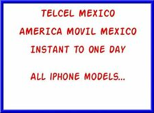Factory Unlock iPhone locked America Movile / Telcel Mexico 3G/3GS/4G/4S/5/5S/5C