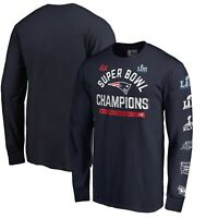 New England Patriots Fanatics 6-Time Super Bowl Champions Hometown T-Shirt -Navy