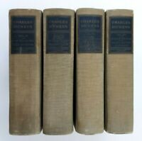 Charles Dickens National Library Edition 4 Volumes David Copperfield c1900s