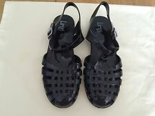Linzi Women Black Jellies Cuban Slingback Sandals Size 41 EU VERY NICE