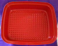 VINTAGE TUPPERWARE Meat Marinade Container With Lid, Paprika Red, #1294-2