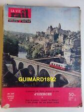 La Vie du Rail n°560 26 août 1956 L'autorail de Tulle devant le site d'Uzerche