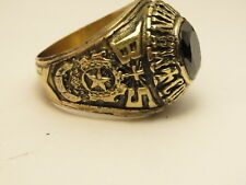 G43, RING , THE UNITED STATES , 1968 MANHATTAN COLLEGE ,school ring ,size  11.25