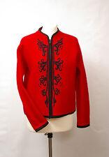 P422/24 Karen Scott Australian Warm Red Woolen Petites Jacket, size M