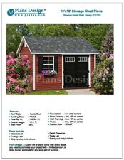 Deluxe Shed Plans 10' x 12' Reverse Gable Roof Style, Material List, #D1012G